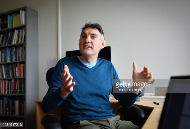 Professor of Economics Emmanuel Saez at his office on the University of California Berkeley campus in Berkeley California on November 14 2019 Saez...