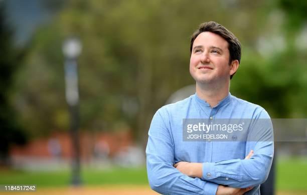 Professor of Economics Gabriel Zucman stands for a photo on the University of California Berkeley campus in Berkeley California on November 14 2019...