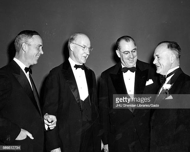 Professor of engineering at Whiting School of Engineering Alexander Graham Christie second from left receiving first ASME George Westinghouse Gold...