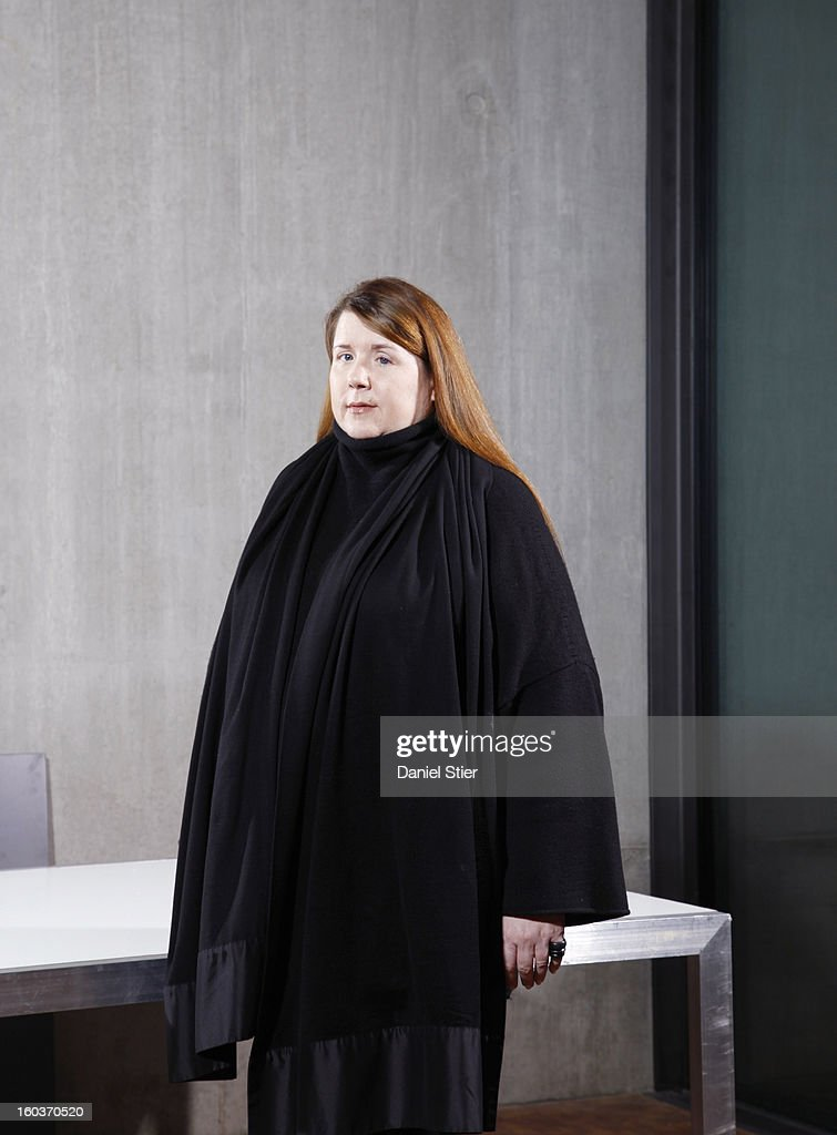 Professor of fashion design Louise Wilson whose students include Alexander McQueen, Giles Deacon and Christopher Kane, is photographed for Ponystep magazine on March 7, 2013 in London, England.
