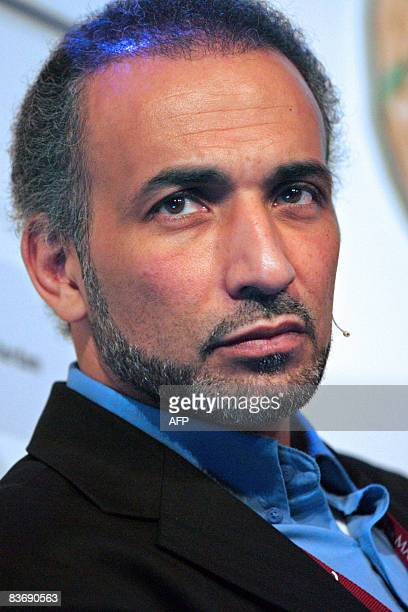 Professor of philosophy and Islamic studies Tariq Ramadan of Switzerland is pictured during a press conference on November 14 2008 in Rotterdam A...