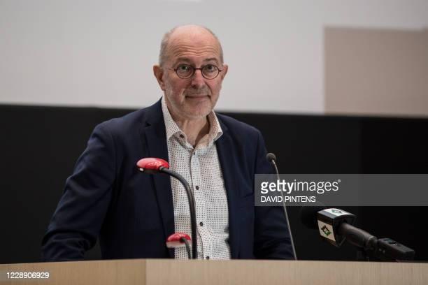 Professor Pierre van damme of Universiteit Antwerpen pictured during a press moment at UAntwerpen university to present the future hyper modern...