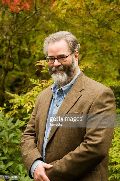 professor portrait - tweed stock pictures, royalty-free photos & images