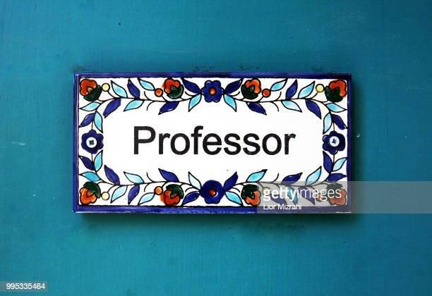 A Professor sign on a door