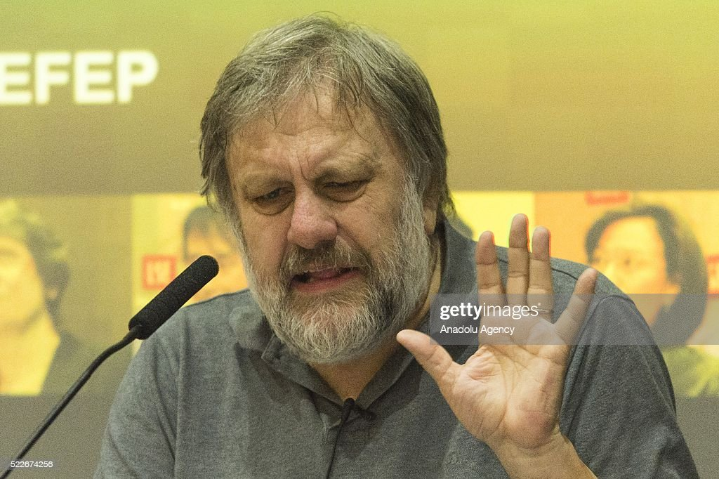 Professor Slavoj Zizek in London : News Photo