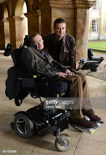 Professor Stephen Hawking and director Stephen Finnigan attend the gala screening of 'Hawking' on the opening night of the Cambridge Film Festival...