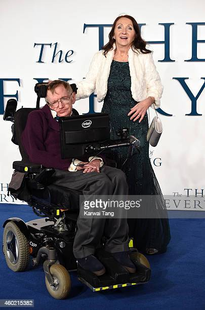 Professor Stephen Hawking and Jane Hawking attend the UK Premiere of The Theory Of Everything at Odeon Leicester Square on December 9 2014 in London...