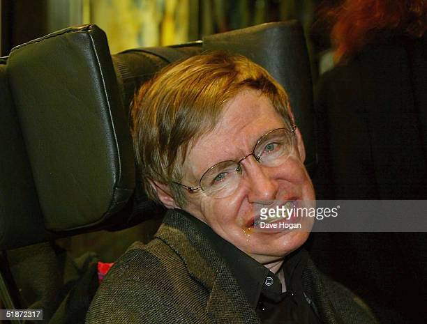 """Professor Stephen Hawking arrives at the European Premiere of """"Lemony Snicket's A Series Of Unfortunate Events"""" at the Empire Leicester Square on..."""