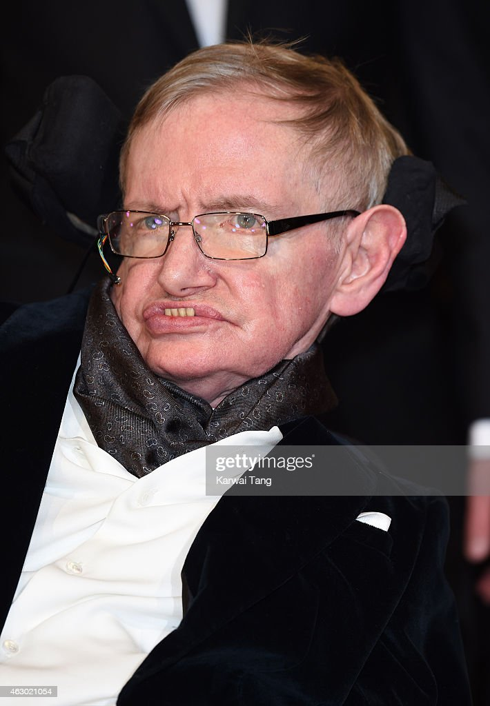 Professor Stephen Hawking attends the EE British Academy Film Awards at The Royal Opera House on February 8, 2015 in London, England.