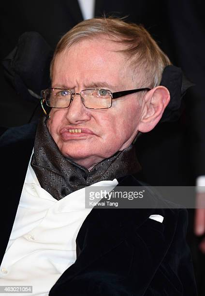 Professor Stephen Hawking attends the EE British Academy Film Awards at The Royal Opera House on February 8 2015 in London England