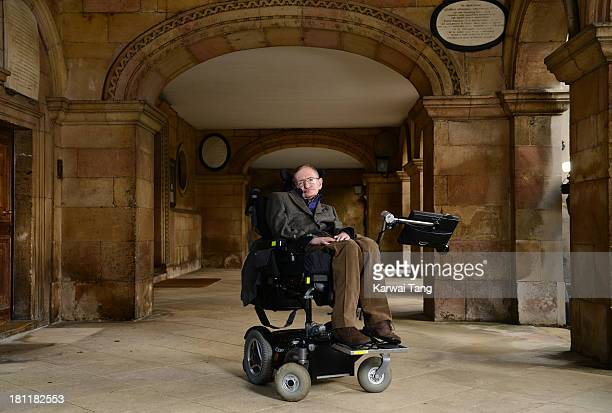 """Professor Stephen Hawking attends the gala screening of """"Hawking"""" on the opening night of the Cambridge Film Festival held at Emmanuel College on..."""