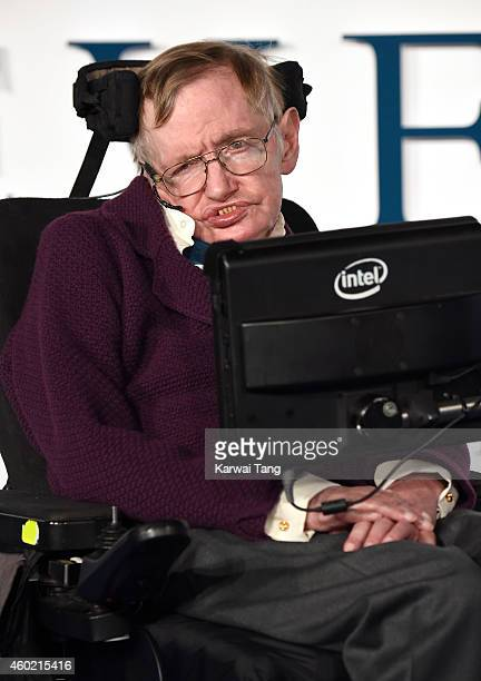 Professor Stephen Hawking attends the UK Premiere of 'The Theory Of Everything' at Odeon Leicester Square on December 9 2014 in London England