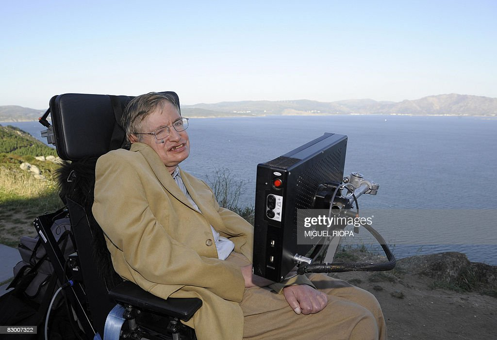 Professor Stephen Hawking is pictured du : News Photo