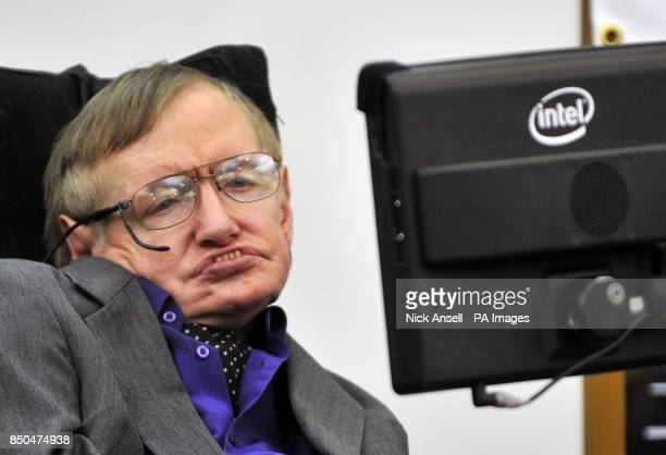 Professor Stephen Hawking launches a report by the charity Breath On UK which supports families of children on longterm ventilation at Portcullis...