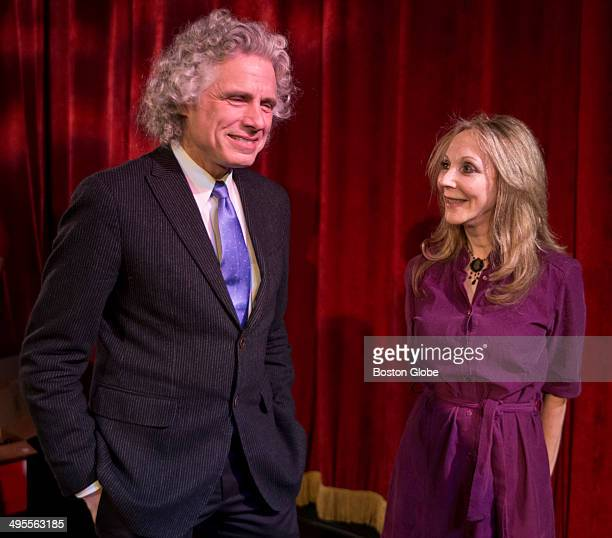 Professor Steven Pinker and his wife novelist and philosopher Rebecca Newberger Goldstein at the National Evening of Science on Screen at the...