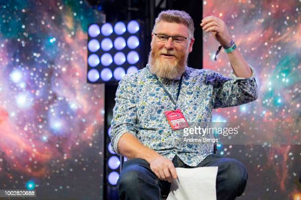 Professor Tim O'Brien in conversation on the Mission Control Stage during day 1 at Blue Dot Festival at Jodrell Bank on July 20 2018 in Manchester...
