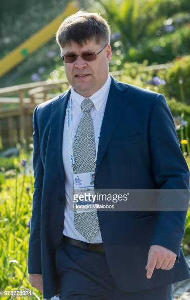 Professor Yuriy Gorodnichenko University of California Berkeley arrives to participate in the first discussion session of the ECB Forum on Central...