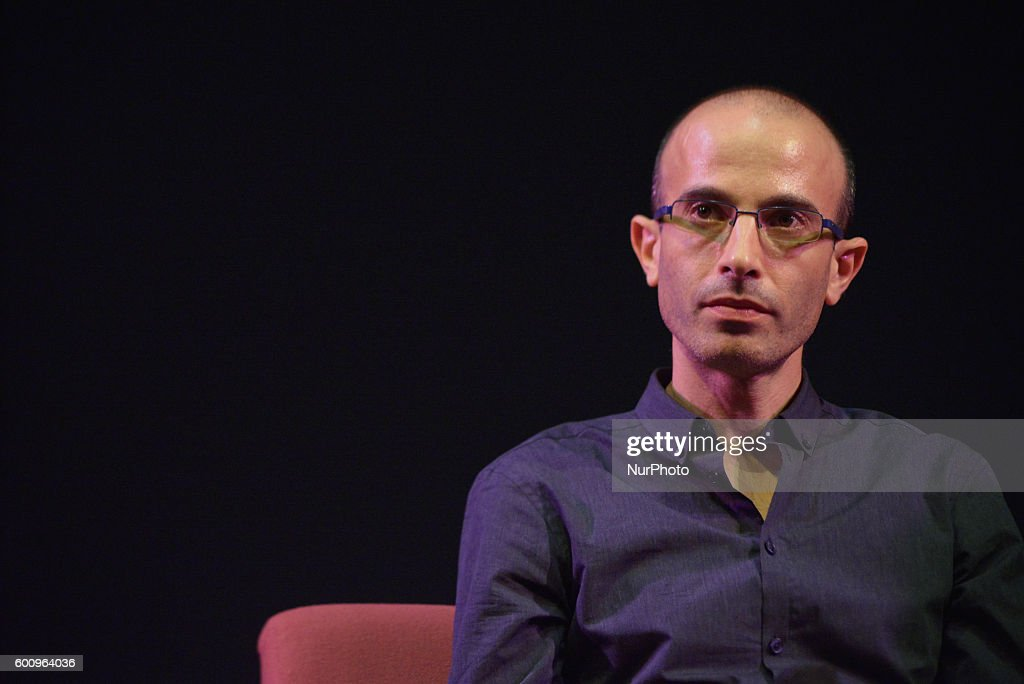 Professor Yuval Noah Harari, author and Professor of History at the Hebrew University of Jerusalem, speaks about themes from his new book 'Homo Deus: A Brief History of Tomorrow' on September 8, 2016 at the Dancehouse Theatre as part of the Manchester Literature Festival in Manchester, England.