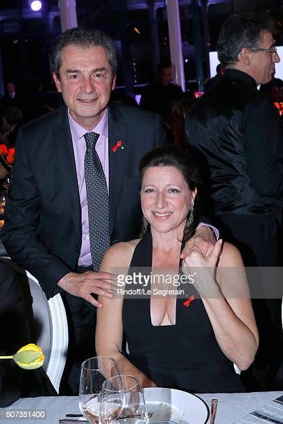 Professor Yves Levy and his wife attend the Sidaction Gala Dinner 2016 as part of Paris Fashion Week Held at Pavillon d'Armenonville on January 28...