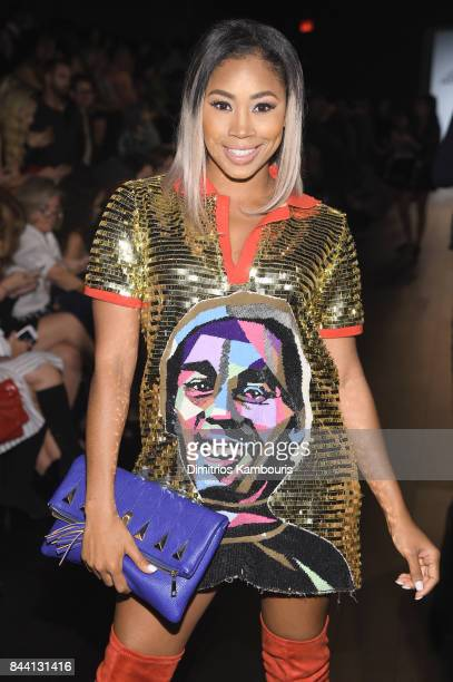 Proffesional wrestler Ariane Andrew poses at the Project Runway fashion show during New York Fashion Week The Shows at Gallery 1 Skylight Clarkson Sq...