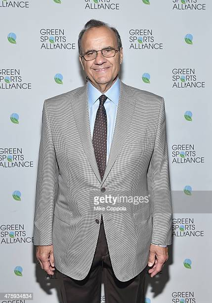 Proffessional baseball hall of famer Joe Torre poses for a picture as the Green Sports Alliance honors The New York Yankees for their dedication to...