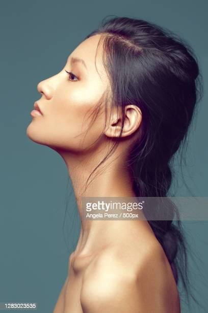 profile headshot of a beautiful asian woman,orlando,florida,united states,usa - hair stock pictures, royalty-free photos & images