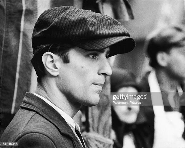 1974 Profile headshot of American actor Robert De Niro in a still from director Francis Ford Coppola's film 'The Godfather Part II' based on the...