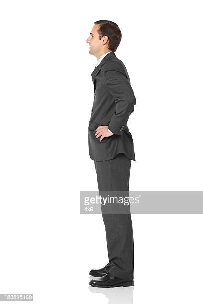 Profile of a businessman