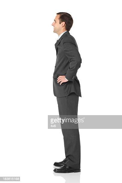 Profil von Geschäftsmann
