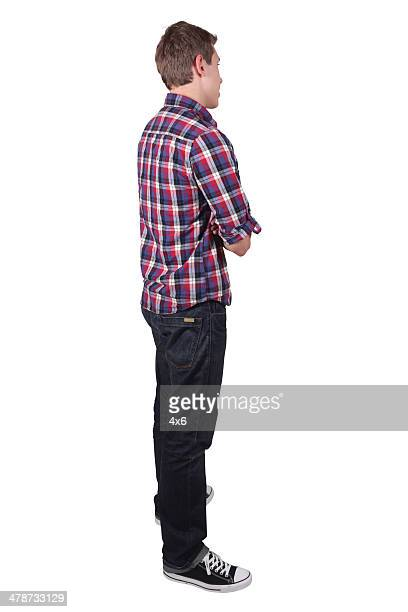 perfil de un hombre - pantalones negros fotografías e imágenes de stock