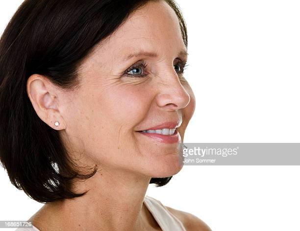 Profile of a mature woman