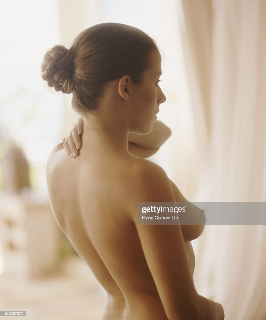 Profile of a Naked Woman : Stock Photo