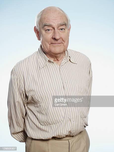 Profile of a quite content senior man