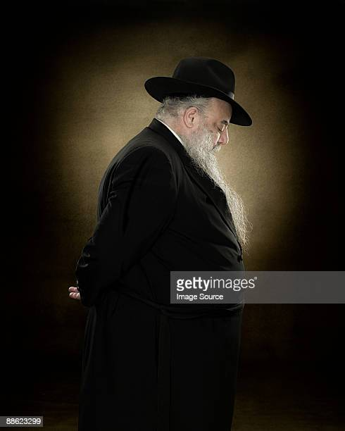profile of a rabbi - rabbi stock pictures, royalty-free photos & images