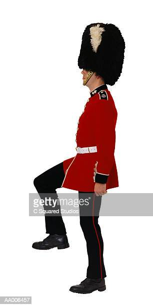 Profile of a Welsh Grenadier Guard