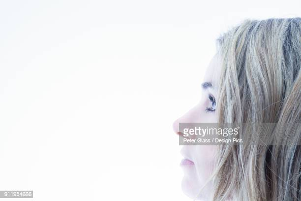 Profile Of A Womans Face With Blond Hair