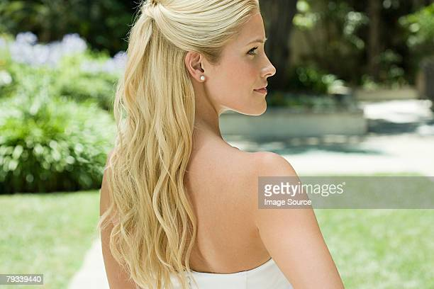 Profile of a young bride