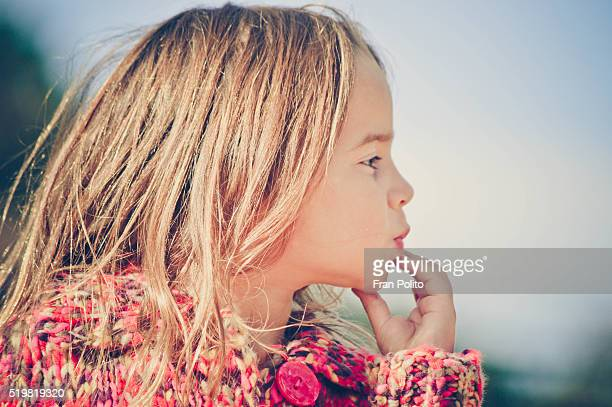 profile of a young girl. - hot young girls stock photos and pictures