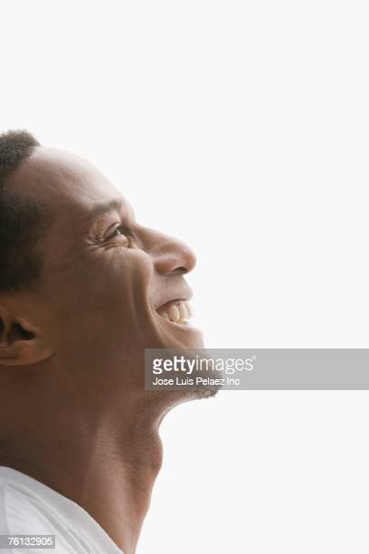Profile of African American man smiling