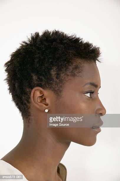 Profile of african american woman