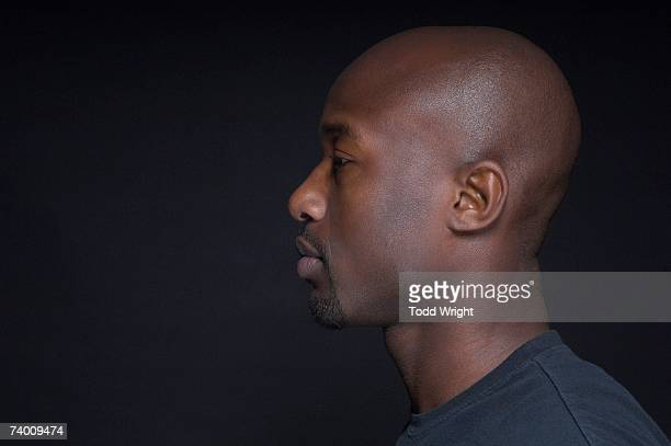 Profile of African man wearing t-shirt
