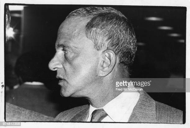 Profile of American attorney Roy Cohn as he attends a Friar's Club Roast New York New York July 21 1977
