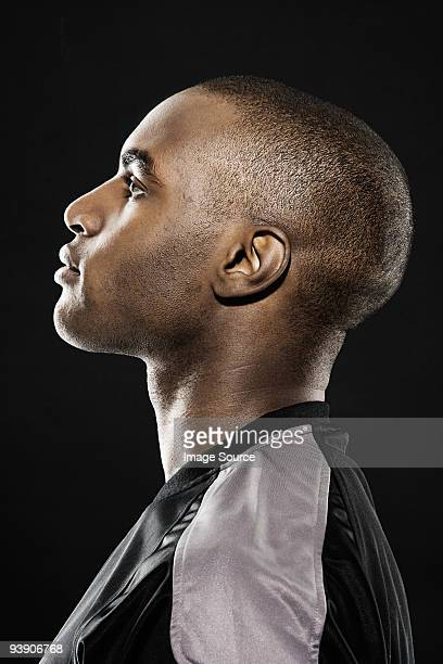 Profile of an african american man