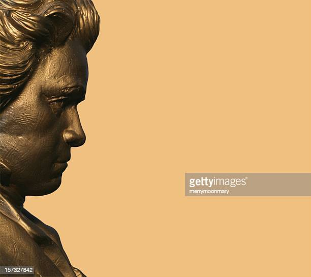 profile of beethoven - beethoven stock pictures, royalty-free photos & images