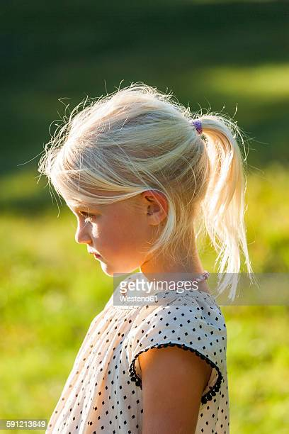 Profile of blond little girl