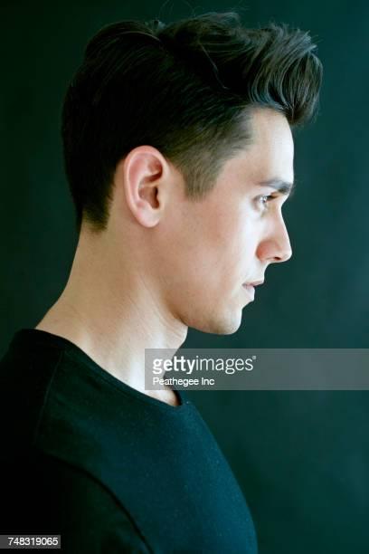 Profile of Caucasian man