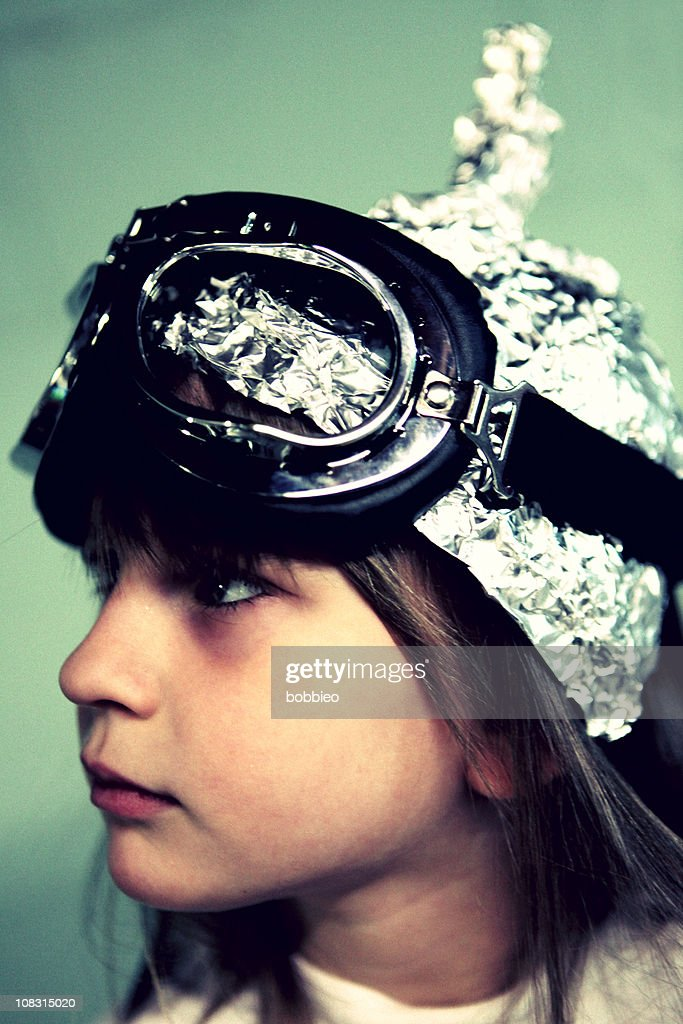 Profil von Kind im tin Dreiblatt-Mütze : Stock-Foto