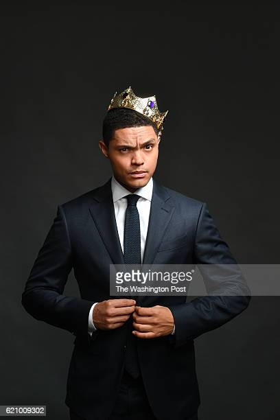Profile of Daily Show host Trevor Noah who has a new memoir about growing up mixed race in apartheid South Africa He is photographed at the Daily...