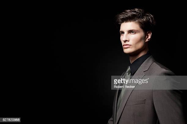 Profile of elegant businessman