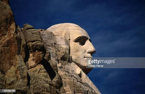 Profile of George Washington, Mt Rushmore.
